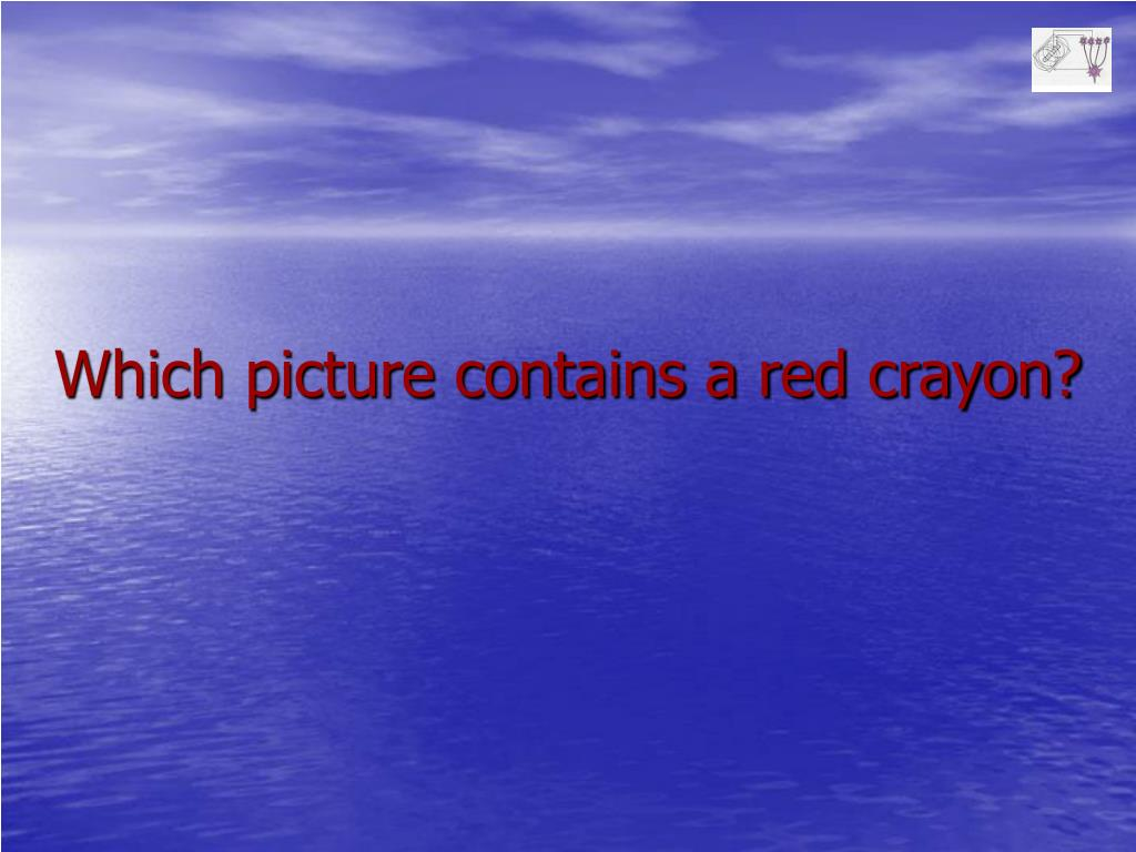 Which picture contains a red crayon?