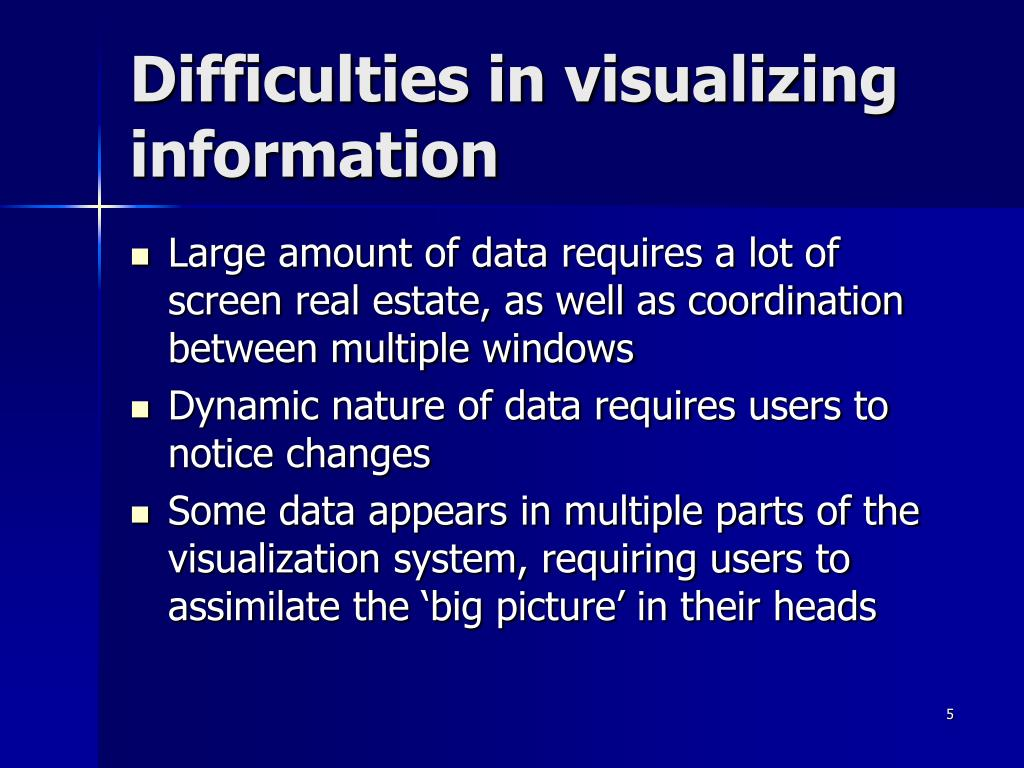 Difficulties in visualizing information