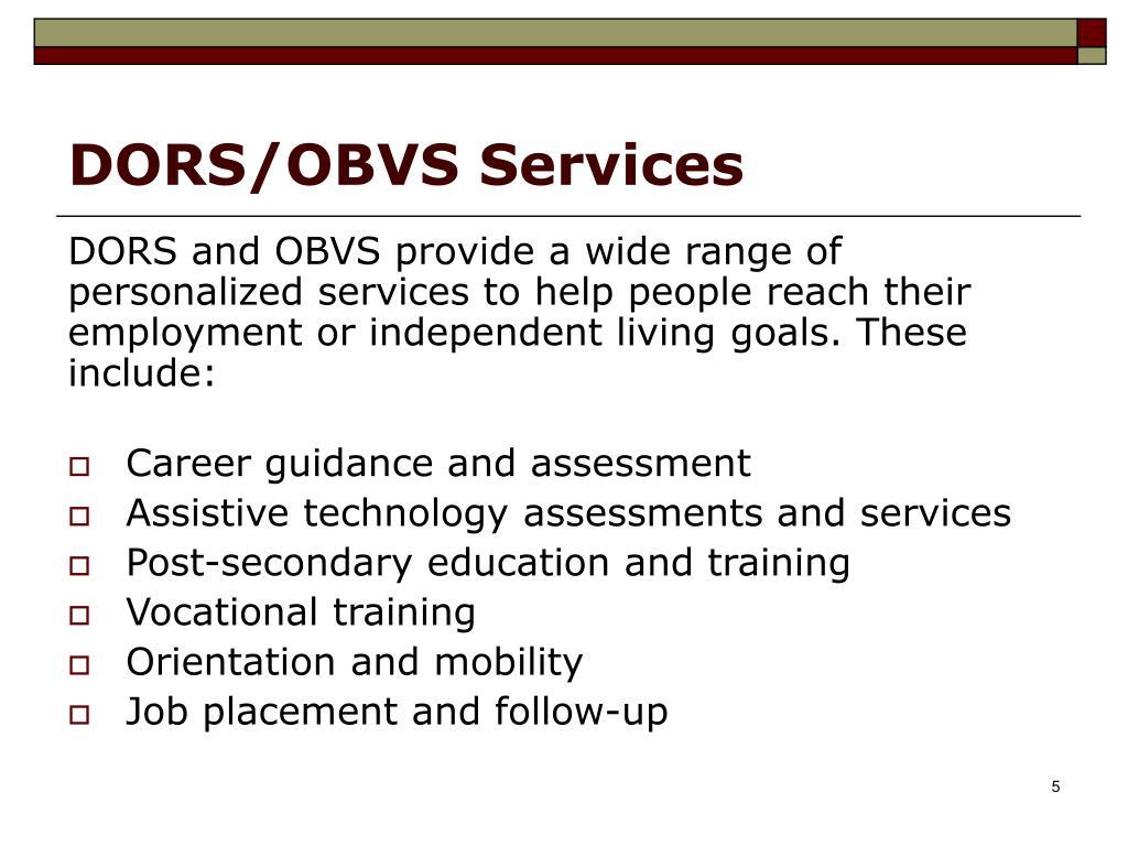 DORS/OBVS Services