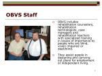 obvs staff