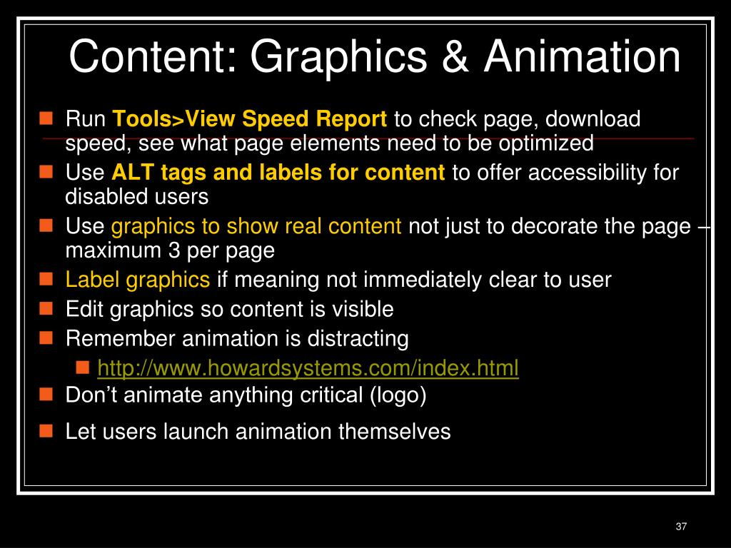 Content: Graphics & Animation