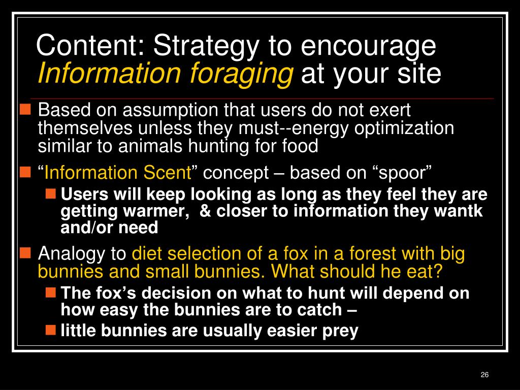 Content: Strategy to encourage