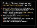 content strategy to encourage information foraging at your site28
