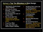 nielsen s top ten mistakes in web design http www useit com alertbox 9605 html