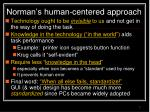 norman s human centered approach