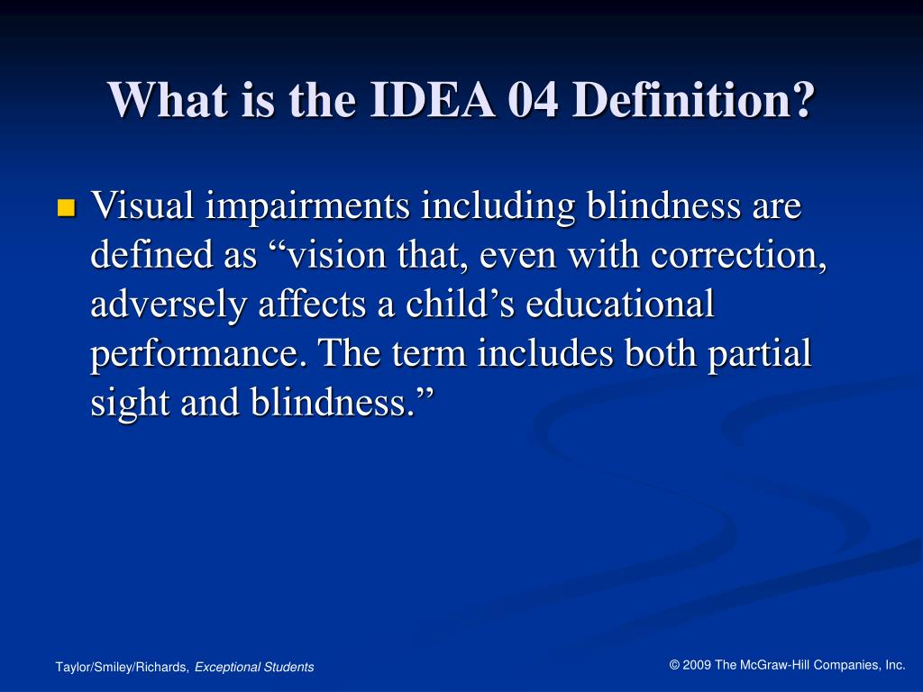 What is the IDEA 04 Definition?