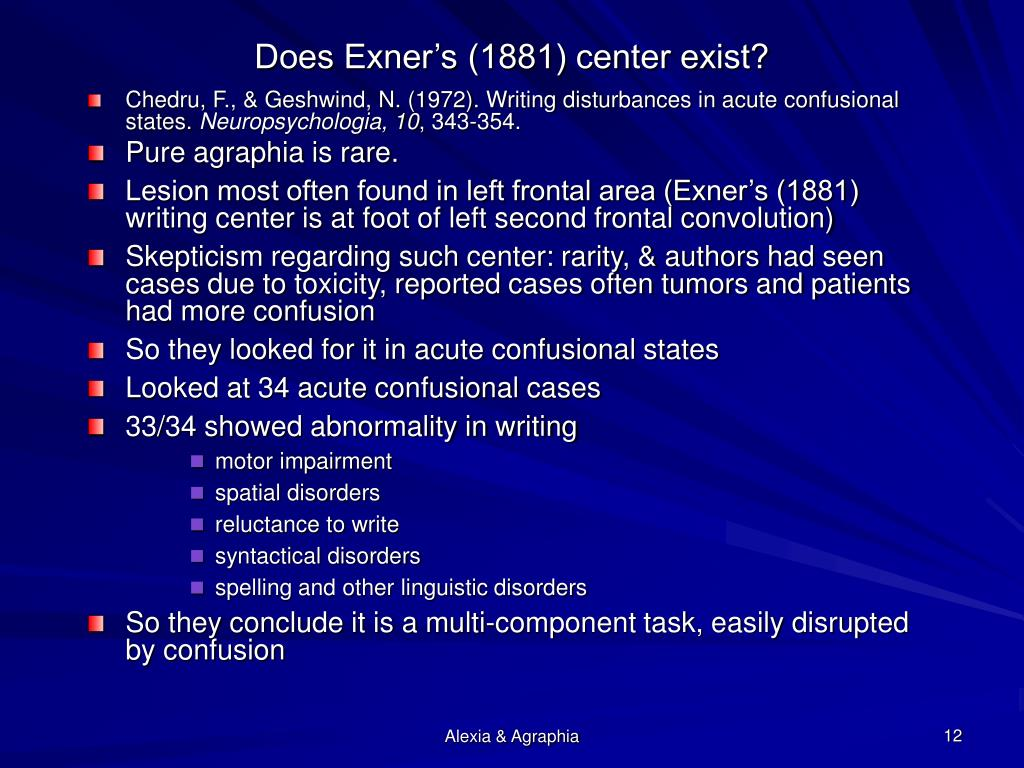 Does Exner's (1881) center exist?