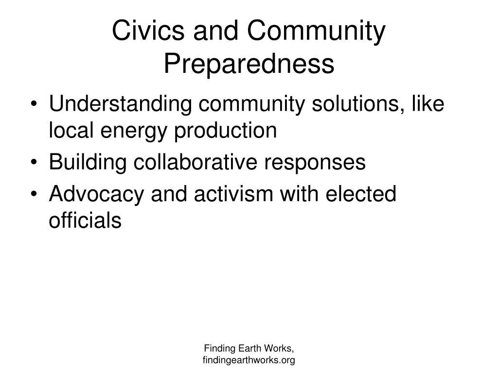 Civics and Community Preparedness