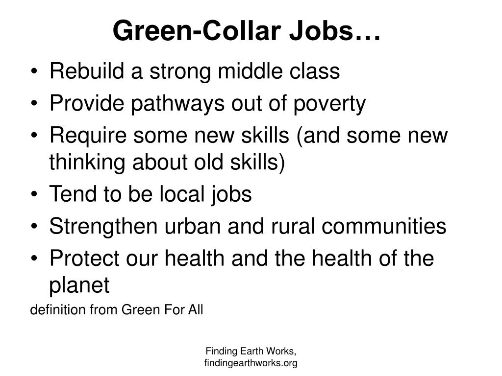 Green-Collar Jobs…
