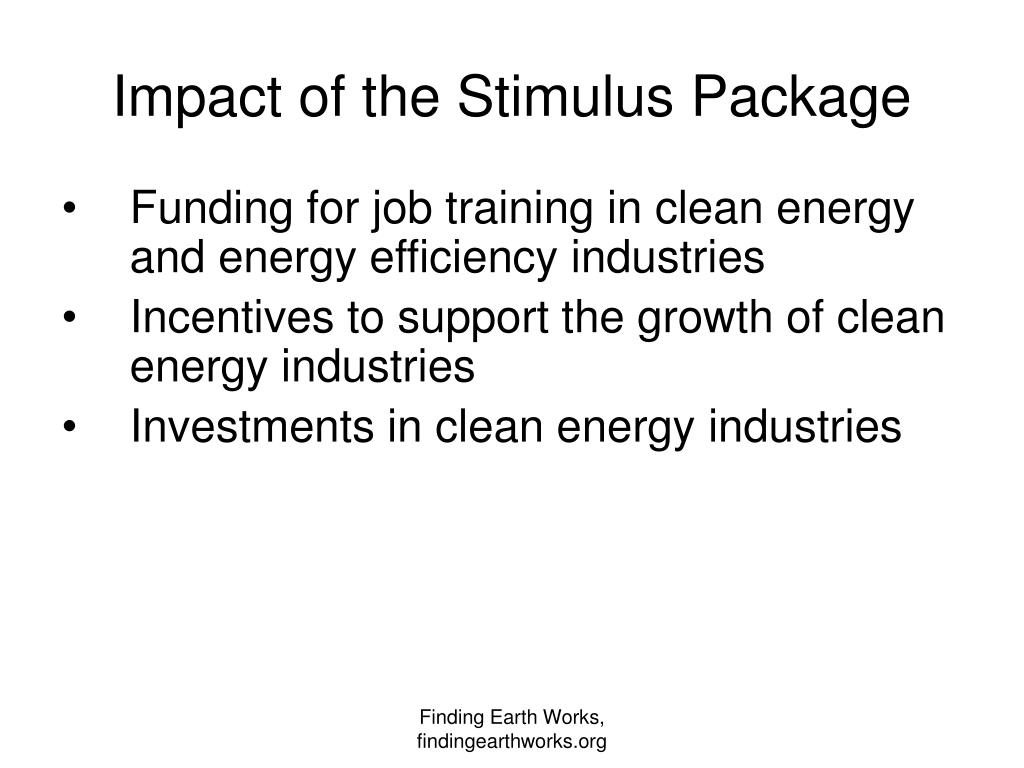 Impact of the Stimulus Package
