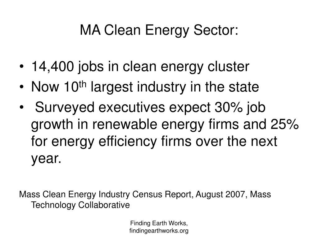 MA Clean Energy Sector: