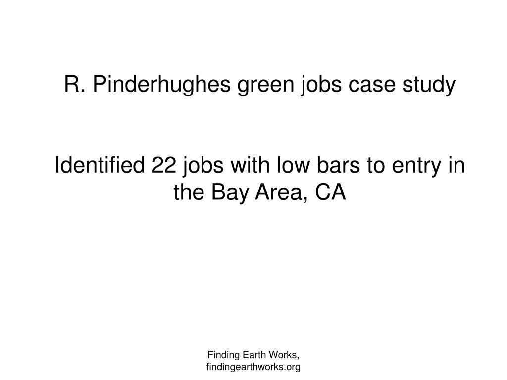 R. Pinderhughes green jobs case study