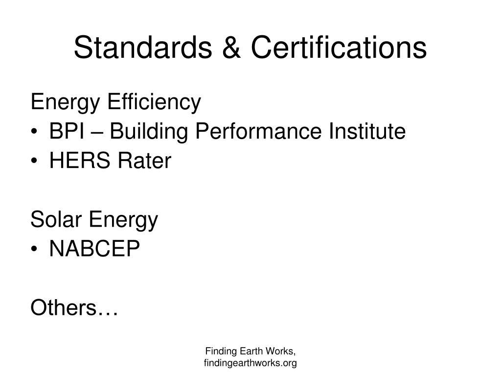 Standards & Certifications