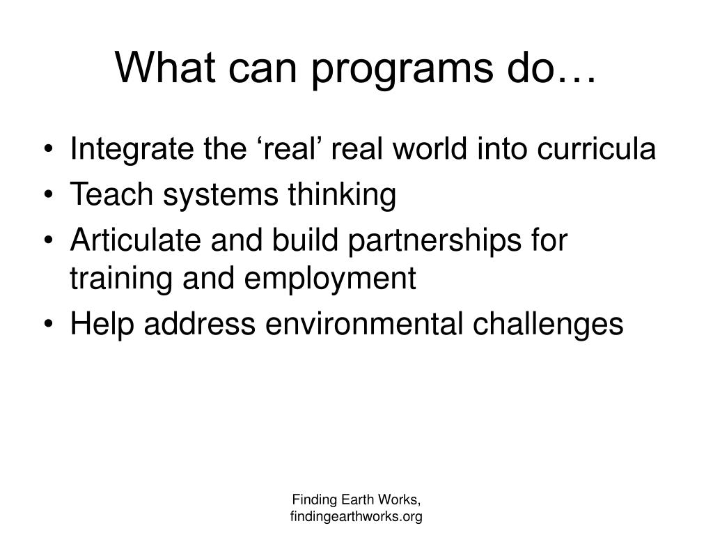 What can programs do…