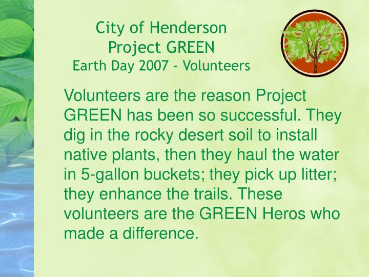 City of henderson project green earth day 2007 volunteers l.jpg