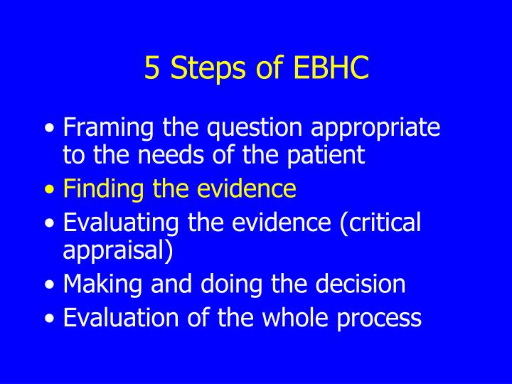 5 Steps of EBHC