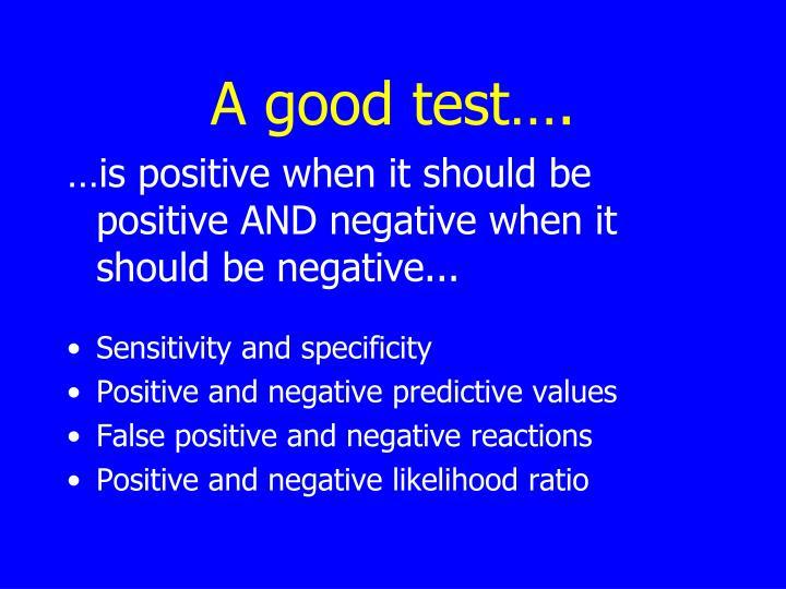 A good test….