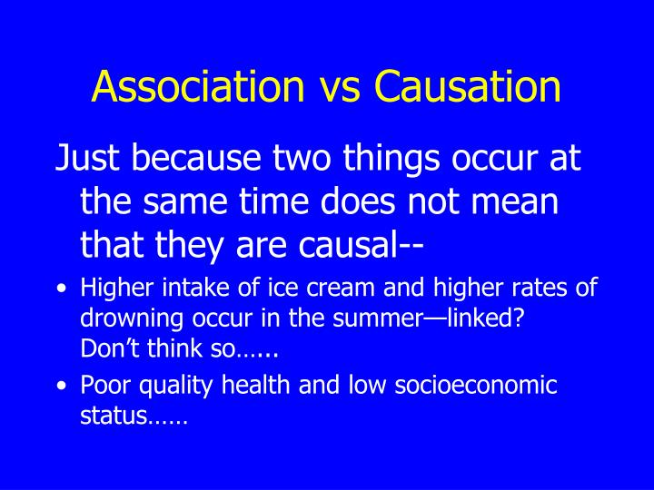 Association vs Causation