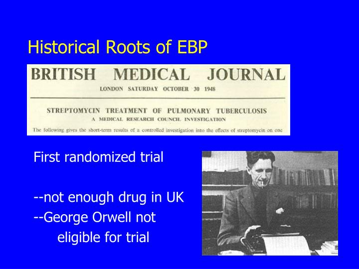 Historical Roots of EBP
