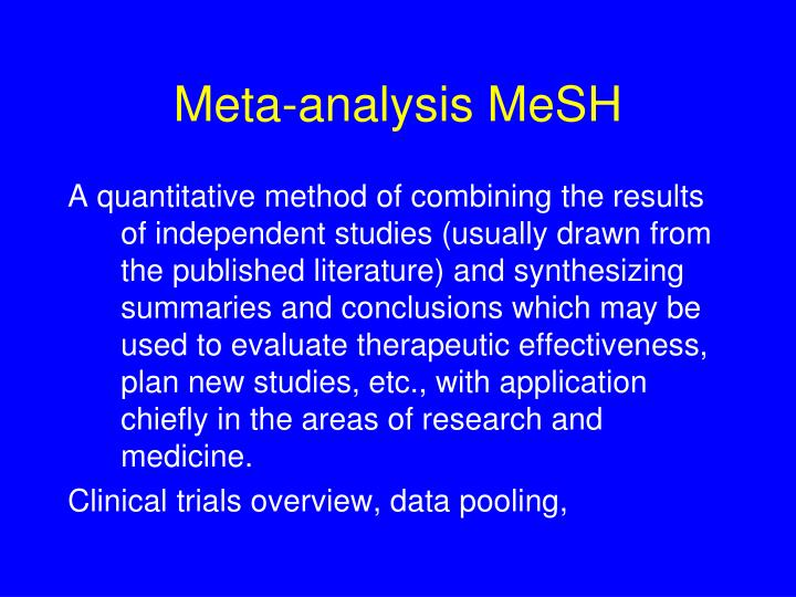 Meta-analysis MeSH