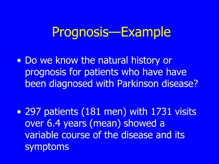 Prognosis—Example