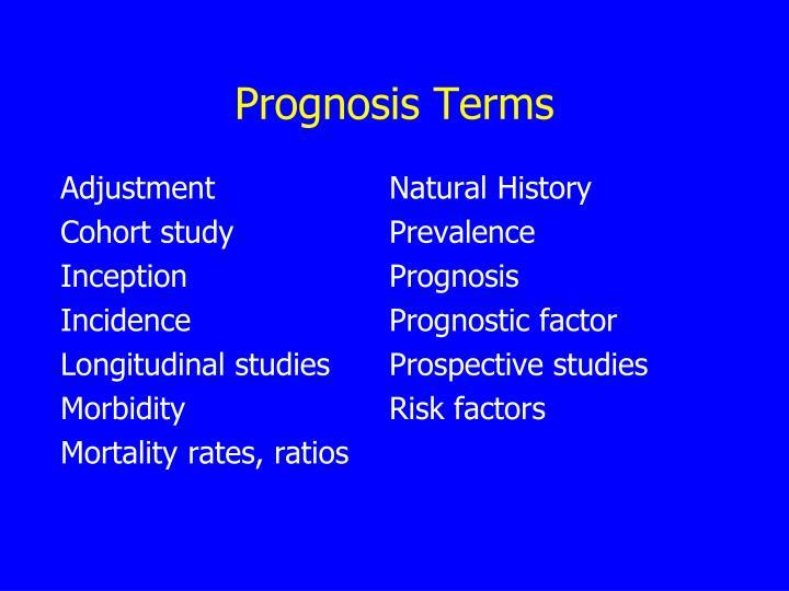 Prognosis Terms