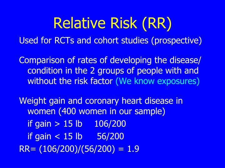 Relative Risk (RR)