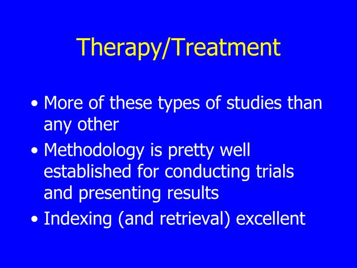Therapy/Treatment