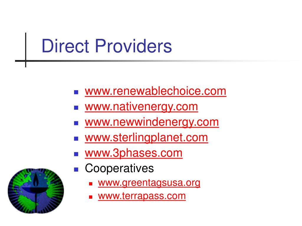 Direct Providers