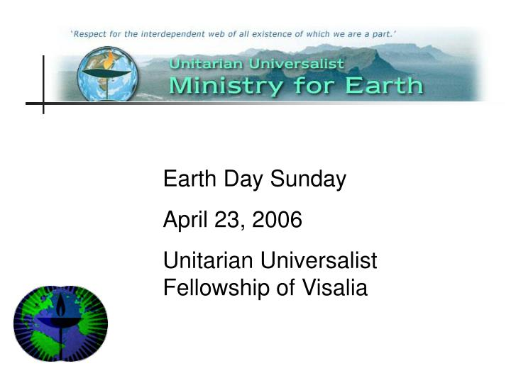Earth Day Sunday