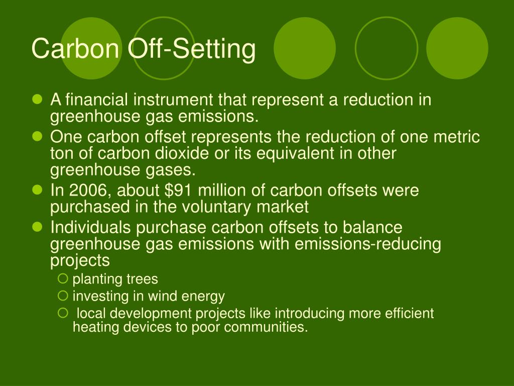 Carbon Off-Setting