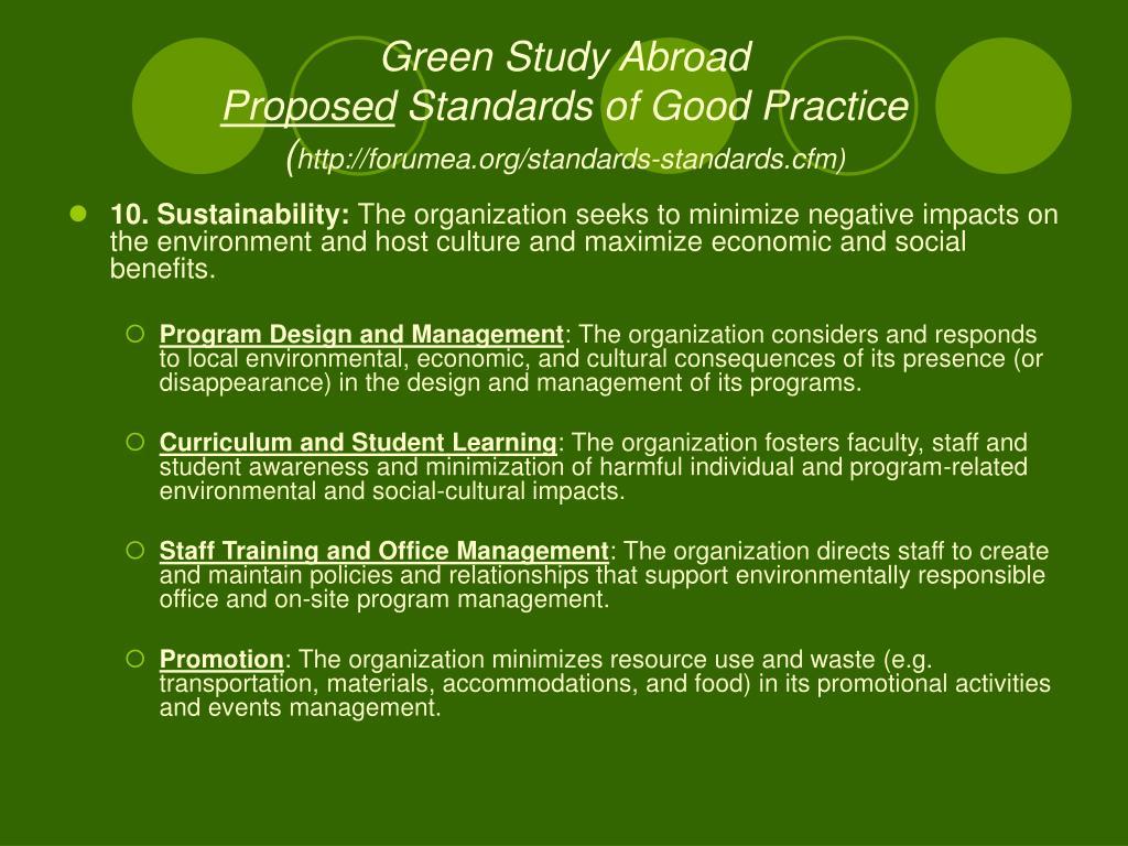 Green Study Abroad
