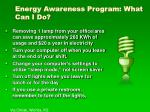 energy awareness program what can i do