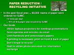 paper reduction recycling initiative
