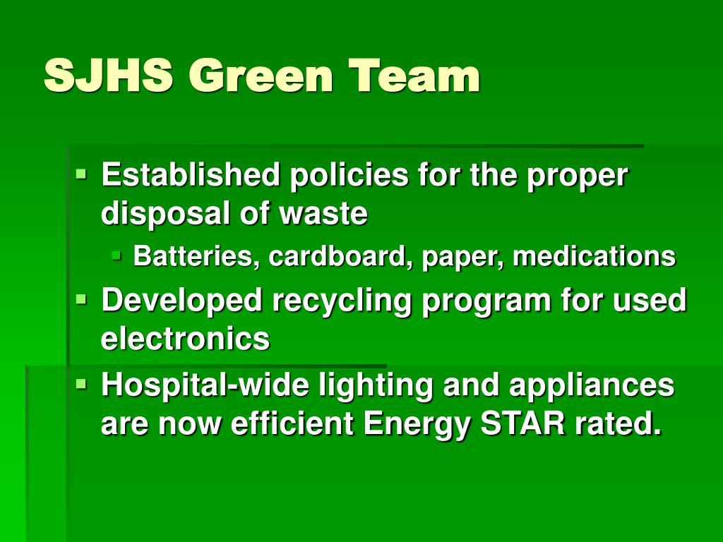 SJHS Green Team