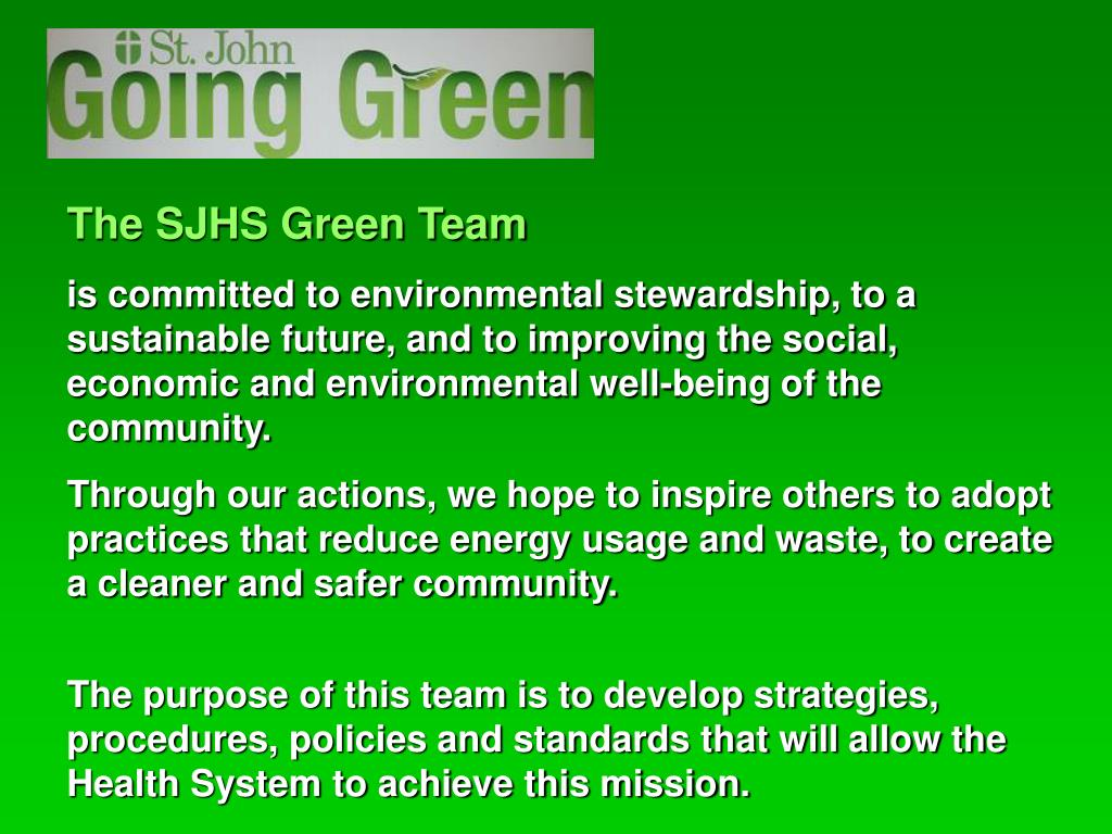 The SJHS Green Team