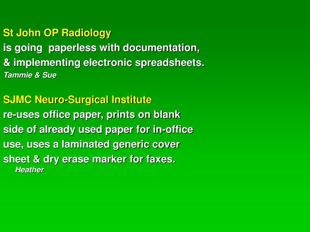 St John OP Radiology