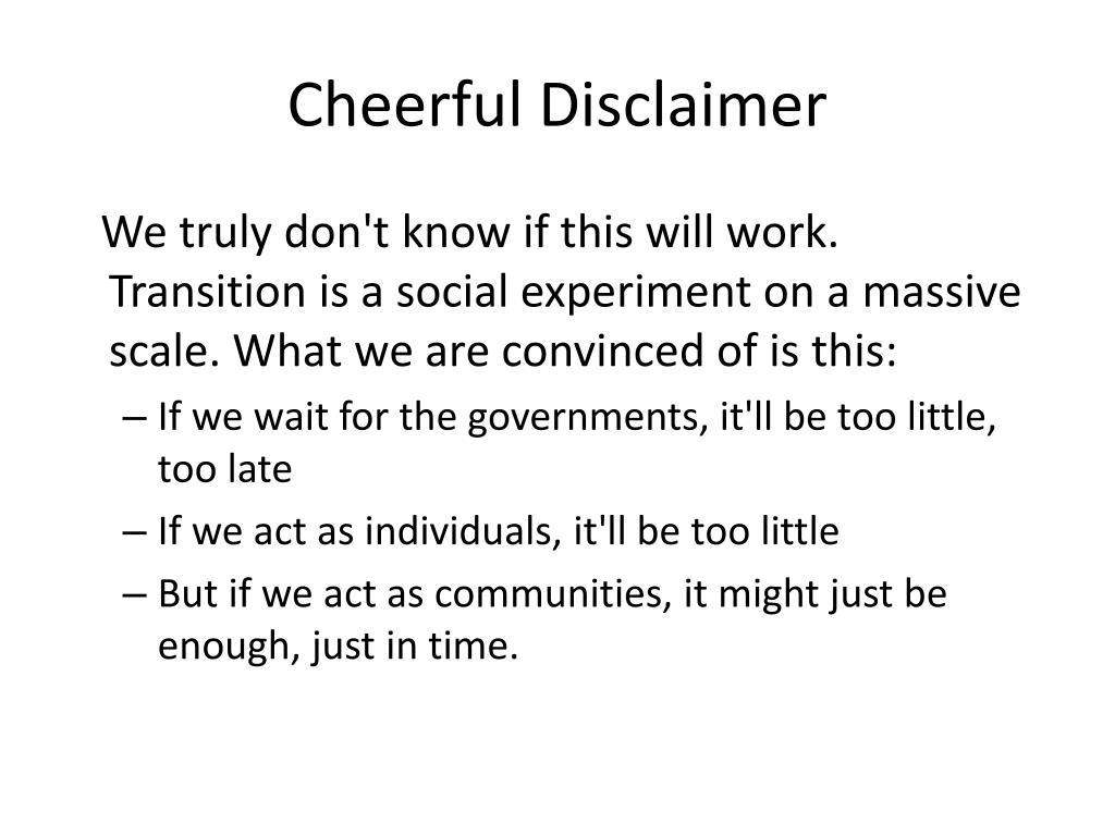 Cheerful Disclaimer