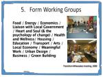 form working groups