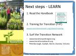 next steps learn