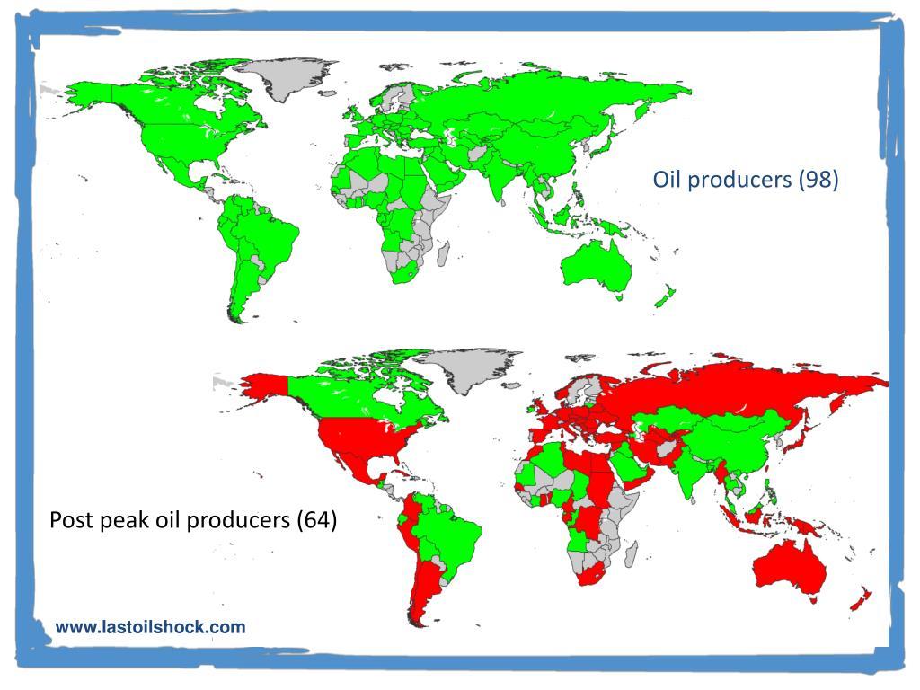 Post peak oil producers (64)
