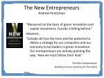 the new entrepreneurs andrew heintzman