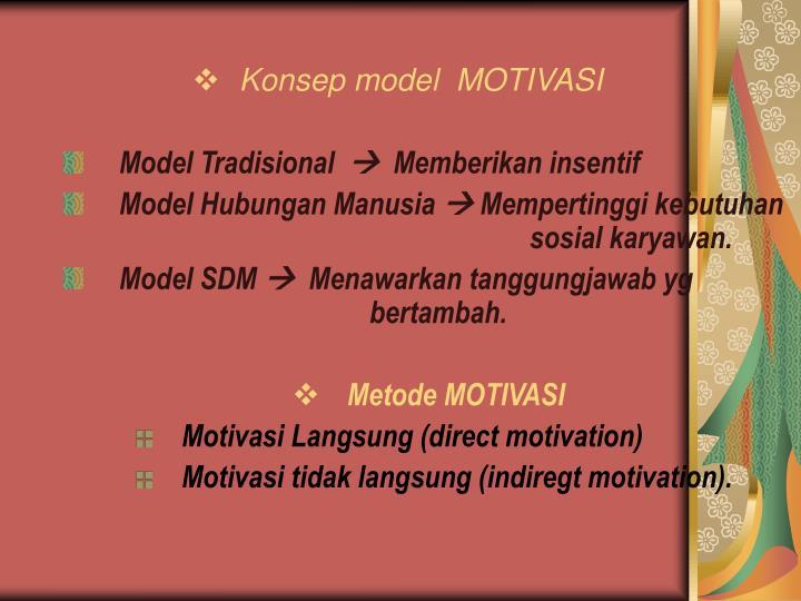 Konsep model  MOTIVASI