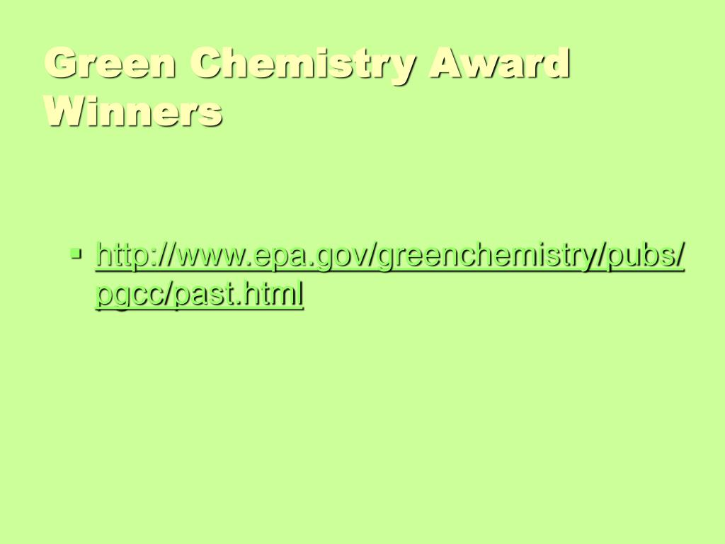 Green Chemistry Award Winners