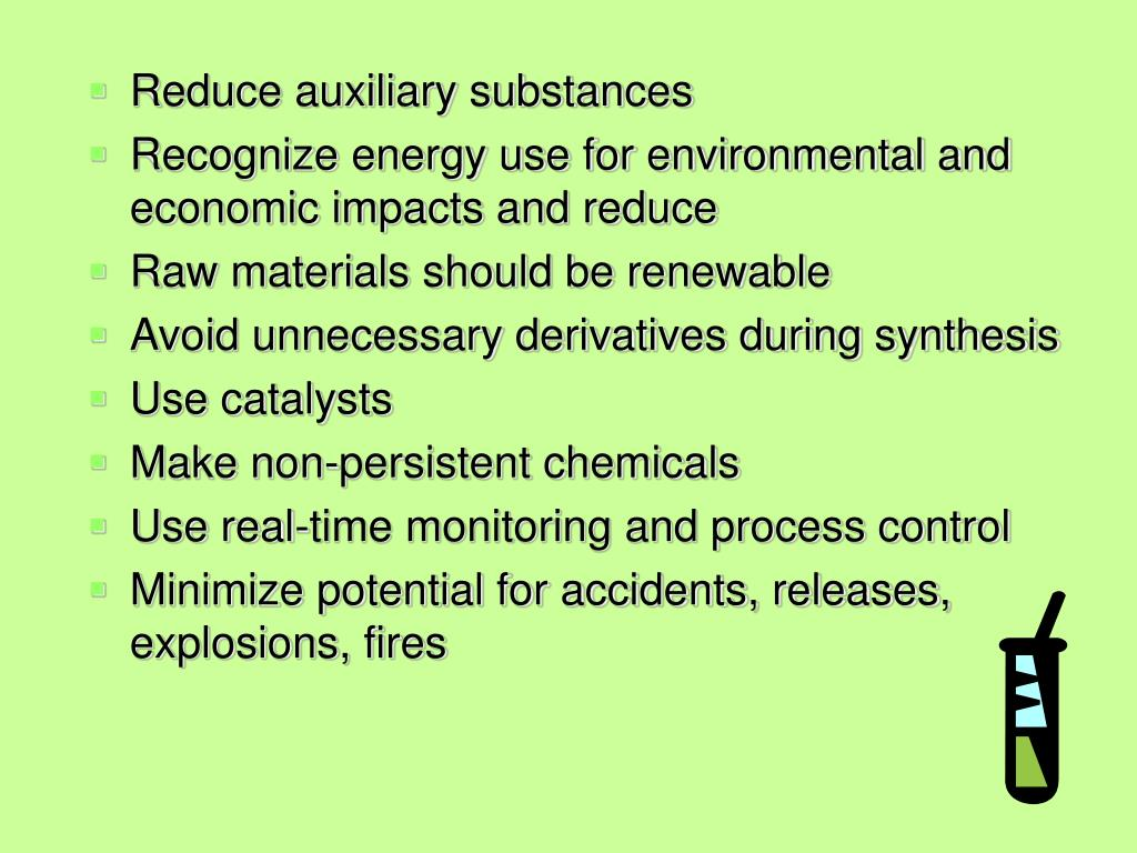 Reduce auxiliary substances