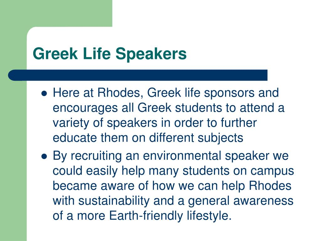 Greek Life Speakers
