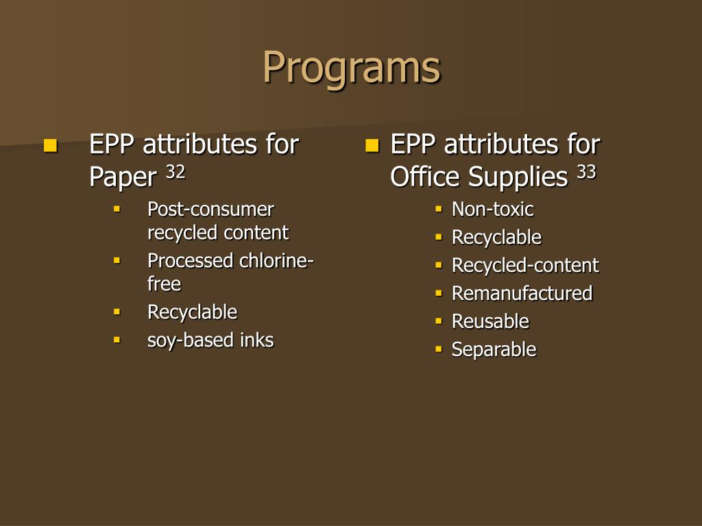 EPP attributes for Paper