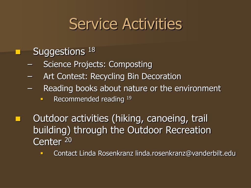 Service Activities