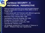 caribbean security a historical perspective