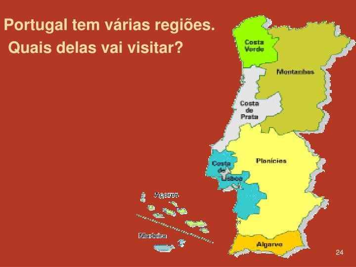 Portugal tem várias regiões.